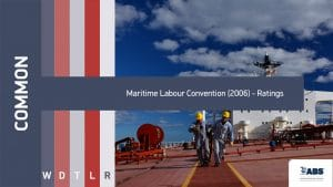common maritime labour convention (2006) - Ratings