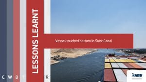lessons learnt vessel touched bottom in Suez Canal