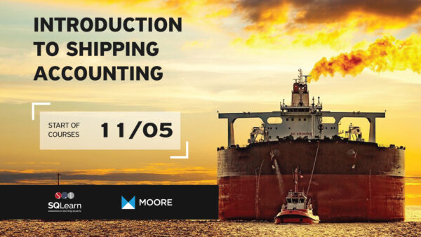 "SQLearn & Moore Greece introduce the LIVE Webinar ""Introduction to Shipping Accounting"""